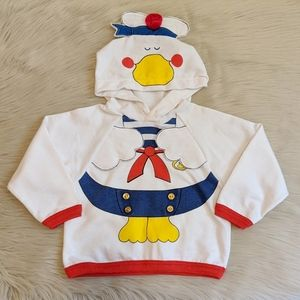 Vintage Carter's sailor duck hooded sweatshirt.